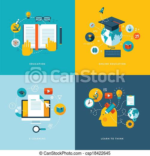ikonok, lakás, fogalom, oktatás - csp18422645