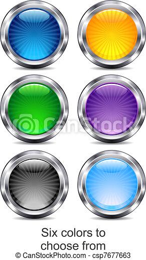 ikony sieći, app, sześć, umiejscawiać, internet - csp7677663
