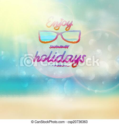 il portare, estate, sunglasses., cielo, sole - csp20736363