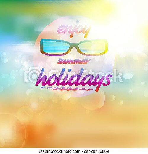 il portare, estate, sunglasses., cielo, sole - csp20736869