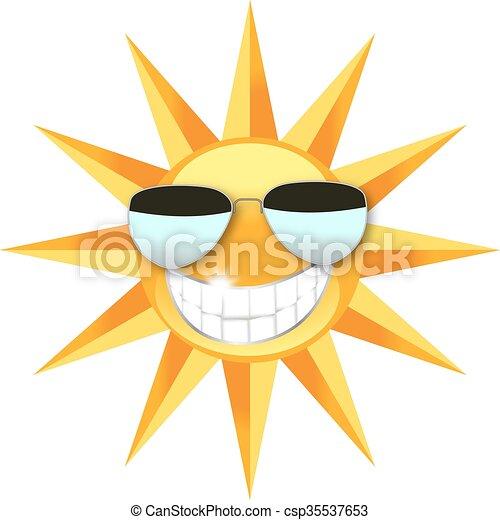 il portare, sole, occhiali da sole - csp35537653