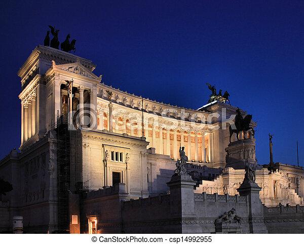 Il Vittoriano at night - csp14992955