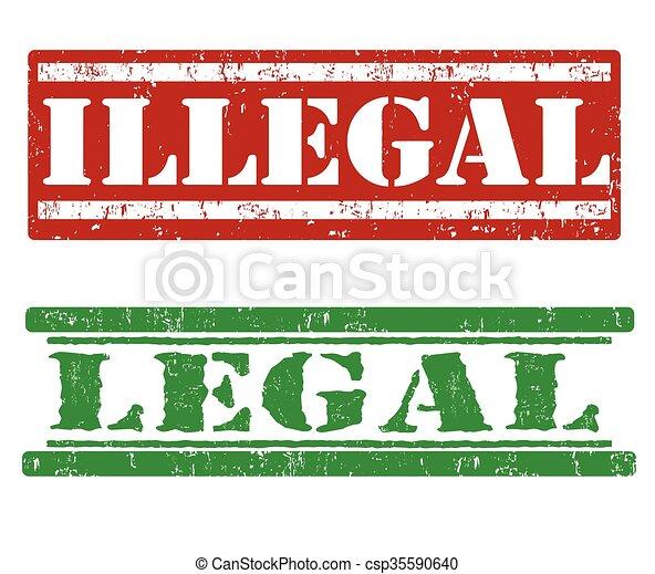 Ilegal y sellos legales - csp35590640