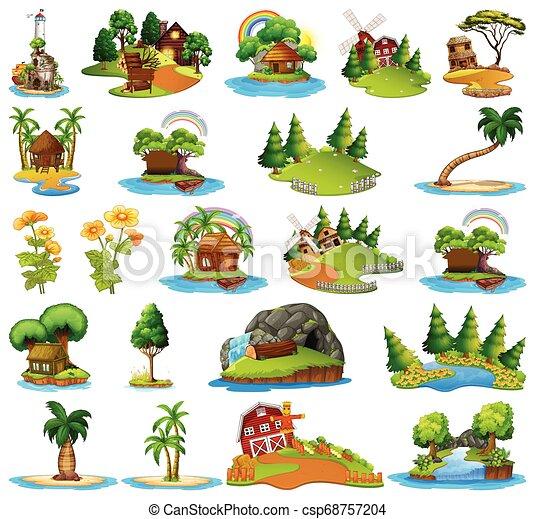 ilha, diferente, jogo, cenas - csp68757204