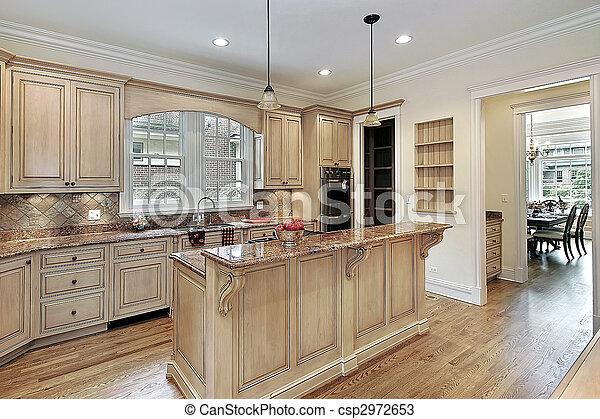 ilha, double-tiered, cozinha - csp2972653