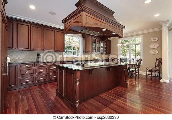 ilha, fogão, cozinha - csp2880330