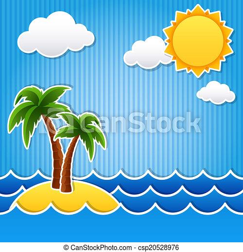 ilha tropical - csp20528976