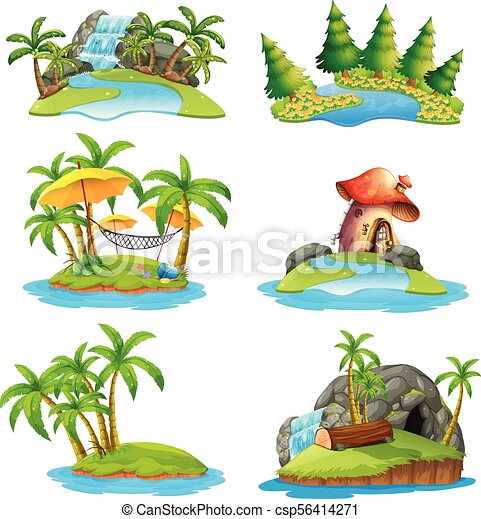 ilhas, diferente, cenas - csp56414271