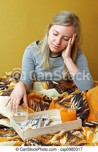 ill woman - csp0980317