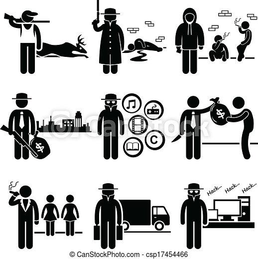 Illegal Activity Crime Jobs - csp17454466