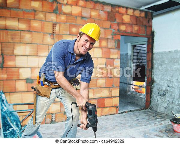 illeték, contruction, munkás - csp4942329