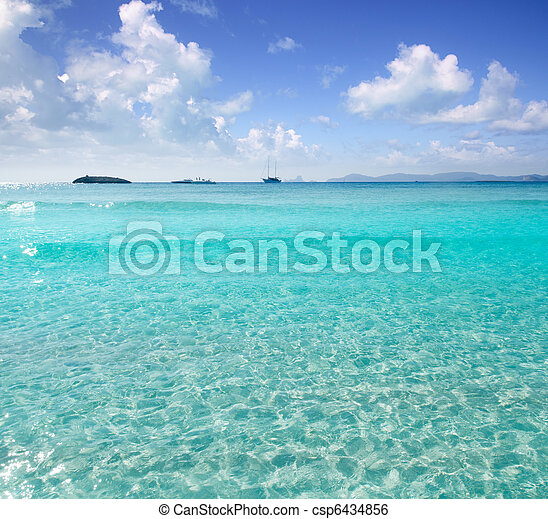 Illetes Illetas beach Formentera turquoise Mediterranean - csp6434856