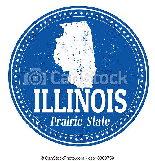 Illinois stamp - csp18003759