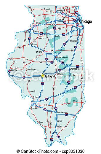 Illinois State Road Map - csp3031336