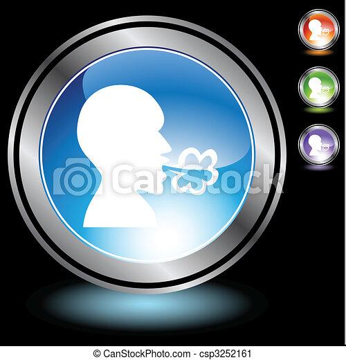Illness Chrome Icon Set - csp3252161