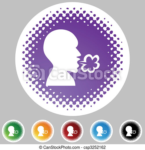 Illness Halftone Icon Set - csp3252162
