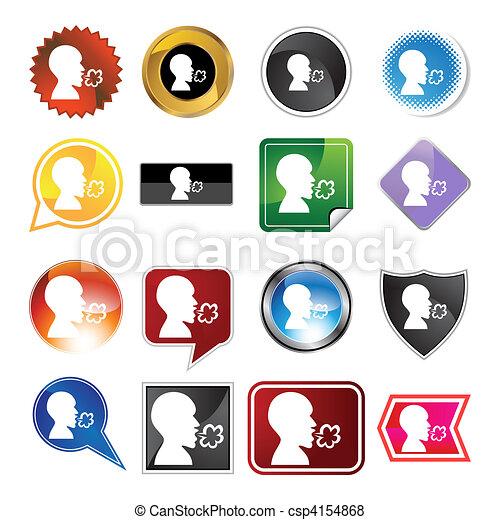 Illness Variety Icon Set - csp4154868