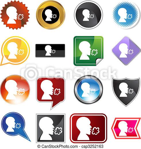 Illness Variety Icon Set - csp3252163