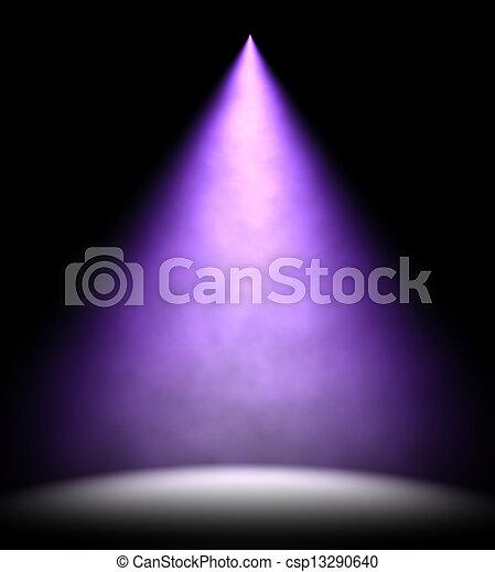 illuminare, luce, pavimento, illustrazione, 3d, macchia, palcoscenico - csp13290640