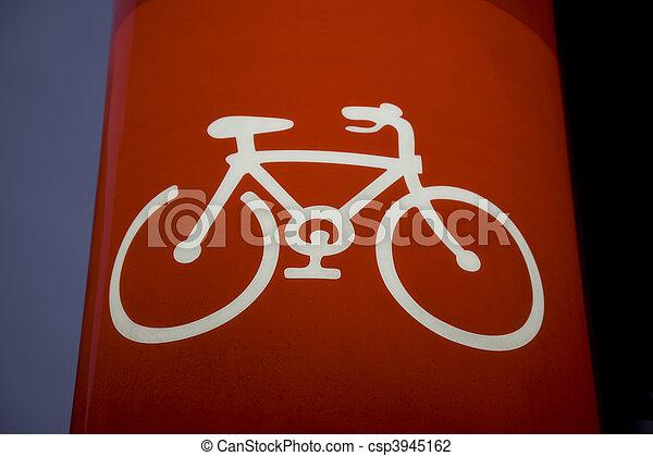 Illuminated Bike Sign - csp3945162