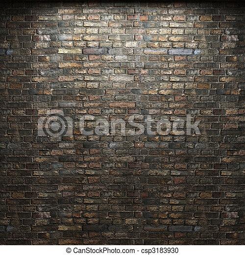 illuminated brick wall - csp3183930