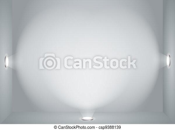 Illuminated empty wall  - csp9388139