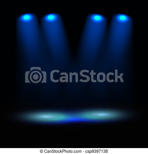 Illuminated stage vector template - csp9397138
