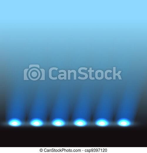 Illuminated stage vector template - csp9397120