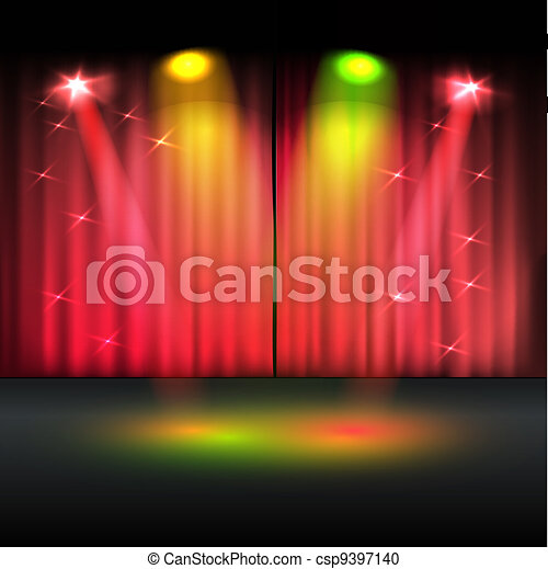 Illuminated stage vector template - csp9397140