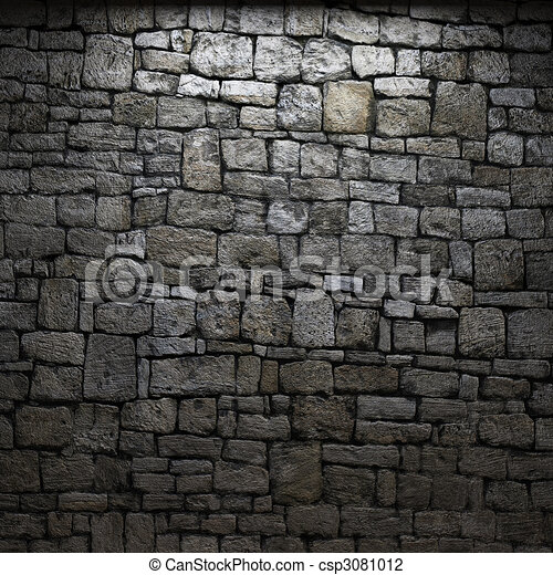 Stone Wall Art clip art of illuminated stone wall made in 3d graphics csp3081012
