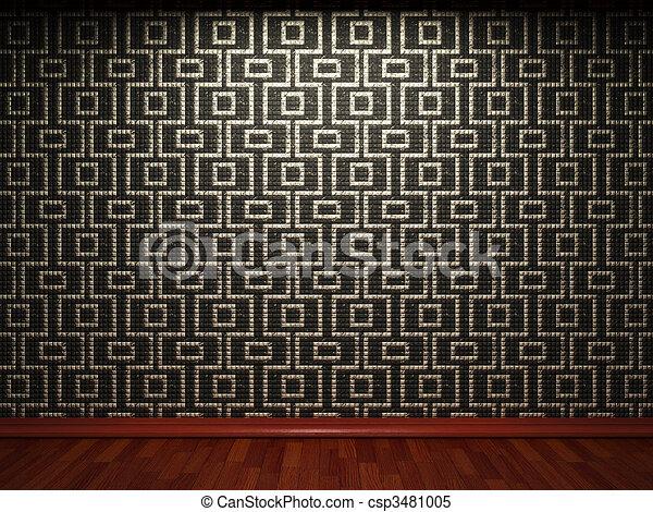 illuminated tile wall  - csp3481005