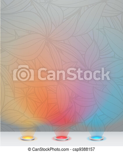 Illuminated wall template - csp9388157
