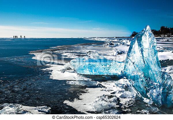 Illuminated Winter Ice - csp65302624