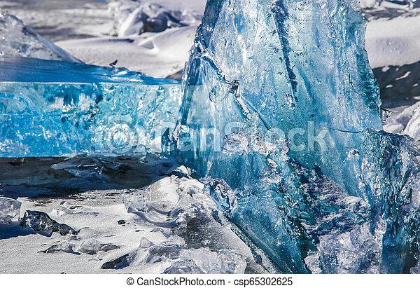 Illuminated Winter Ice - csp65302625