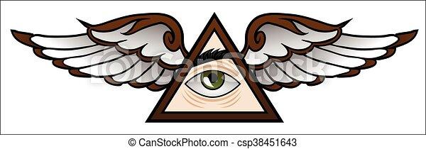 Illuminati Cartoon - csp38451643