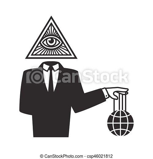 Illuminati conspiracy illustration - csp46021812