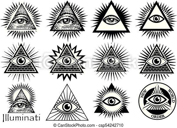 Illuminati Symbols Masonic Sign All Seeing Eye