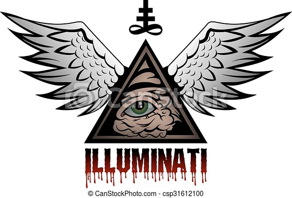 Illuminati All Seeing Eye Pyramid Symbol Vector Clipart Search