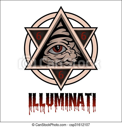 Illuminati All Seeing Eye Pyramid Symbol