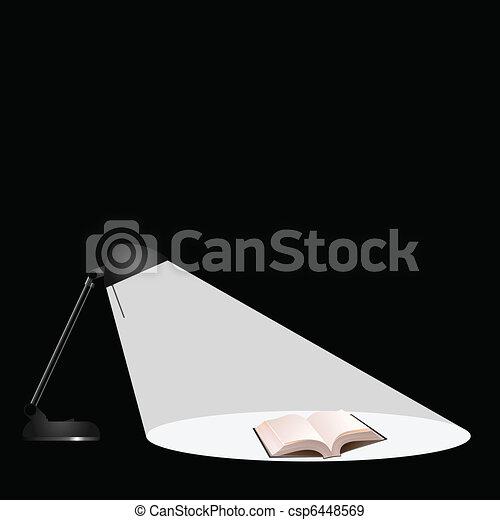 illuminating a book  - csp6448569