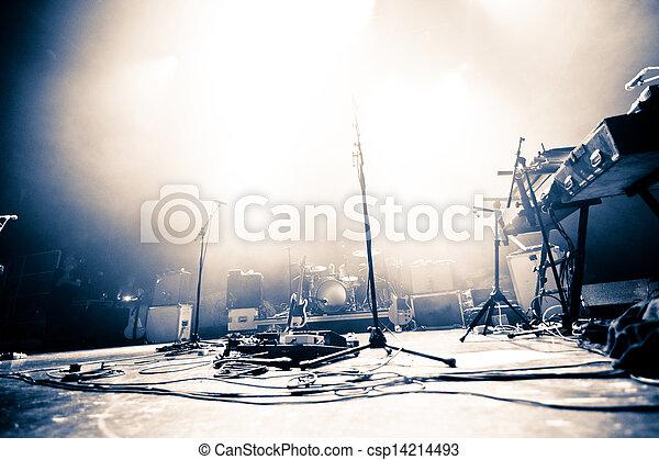 illuminato, palcoscenico vuoto - csp14214493