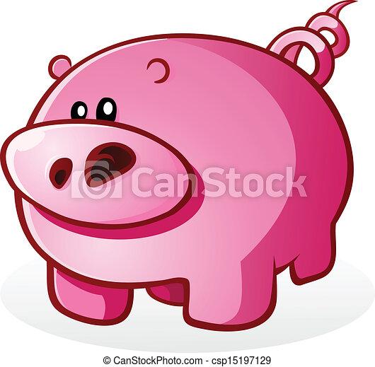 Ilustracin vectorial de illust cerdo carcter caricatura