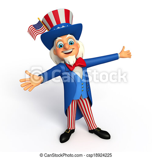 illustarion of uncle sam 3d rendered illustration of uncle clip rh canstockphoto ca Uncle Sam Cartoon Original Uncle Sam