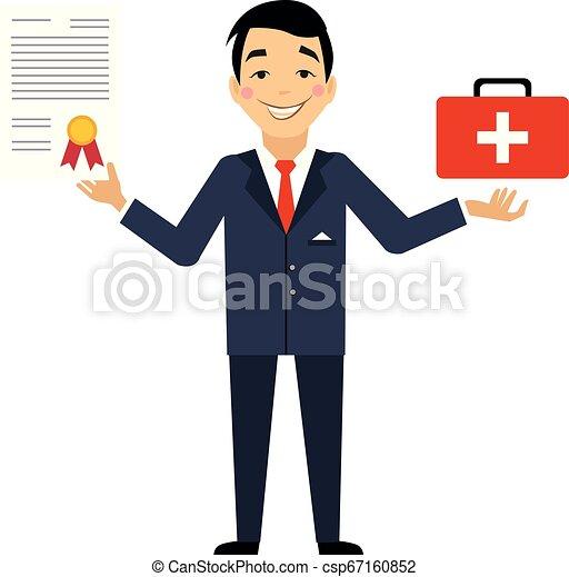 Ilustración de vectores de seguro - csp67160852