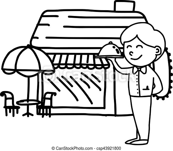 illustation vector hand drawn doodle of coffee shop or vector rh canstockphoto ie cafe shop clipart