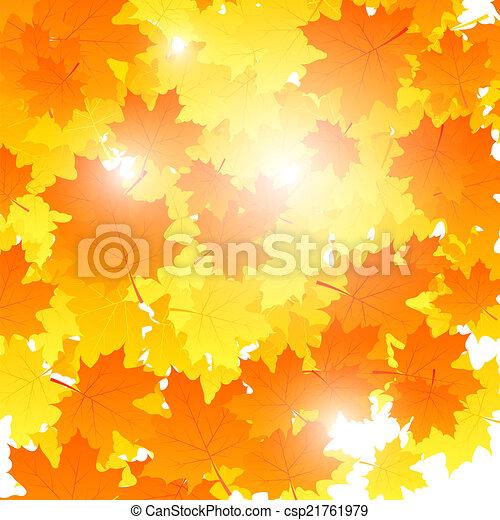 illustr, folhas, tema, outono, falling., vetorial, fundo, maple - csp21761979
