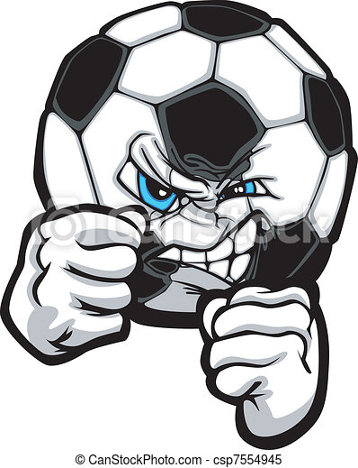 illustr, voetbal, vecht, vector - csp7554945