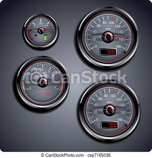 illustrated car gauges - csp7165036