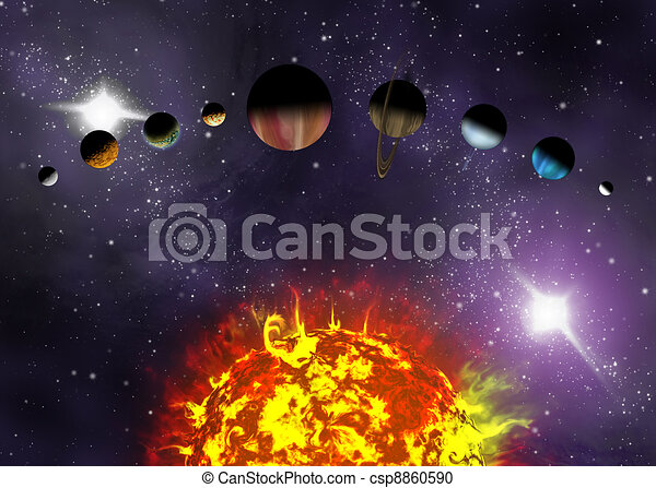 Illustrated Diagram Showing The Order Of Planets In Our Solar System