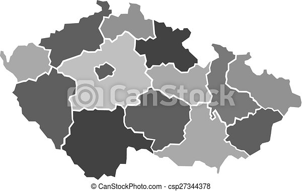 Illustrated map of Czech Republic - csp27344378